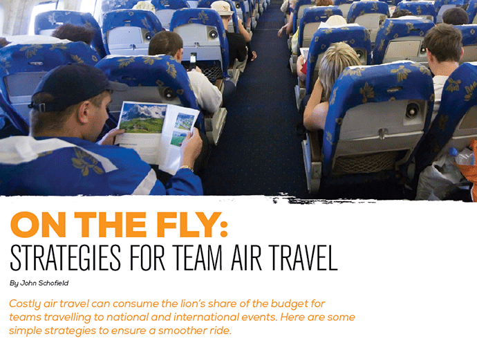 On the Fly:  Strategies for Team Air Travel