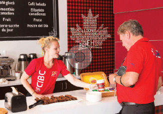 One of the ways CIBC engaged athletes was to build a café in the Athletes Village. Its popular Canadian Smoothie was specially crafted by nutritionists at the Canadian Sport Institute.