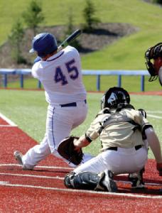 Hitting a baseball