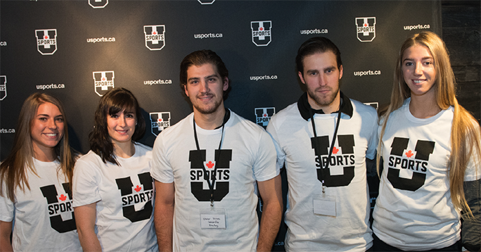 Students presenting the U Sports Launch