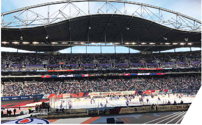 When Winnipeg hosted the 2016 NHL Heritage Classic weekend last October, it transformed Investors Group Field into an outdoor hockey rink. Day one saw hockey greats such as Wayne Gretzky and Mark Messier take to the ice for the Alumni Game, while the highlight of day two was a match between the Winnipeg Jets and the Edmonton Oilers.