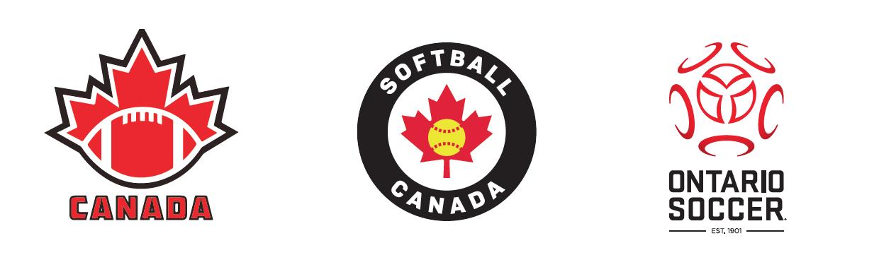 New logos for Football Canada, Softball Canada and Ontario Soccer